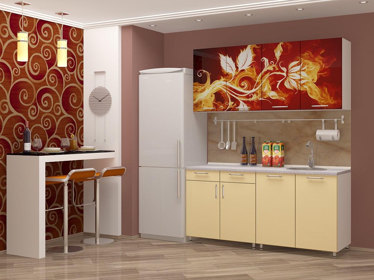 Кухни с картинками на фасадах